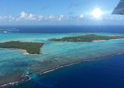 Tetiaroa vue d'avion - Topdive Polynésie