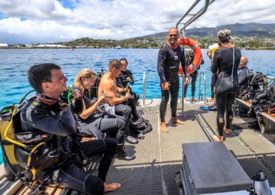 Découverte des fond polynesiens baptême de plongée avec Topdive